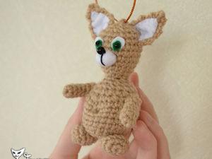 Вяжем крючком котика-подвеску своими руками. Ярмарка Мастеров - ручная работа, handmade.
