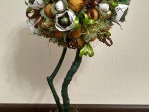 Аукцион на Топиарий из конфет  «Ореховое дерево». Ярмарка Мастеров - ручная работа, handmade.