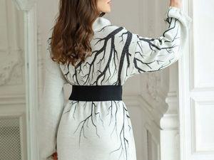Аукцион на Эффектное платье-оверсайз! Старт 3000 р.!. Ярмарка Мастеров - ручная работа, handmade.