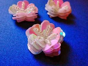 Создаем фантазийный цветок из пайеток и бисера. Ярмарка Мастеров - ручная работа, handmade.