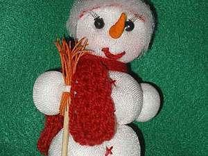 Как сделать снеговика на елку. Ярмарка Мастеров - ручная работа, handmade.