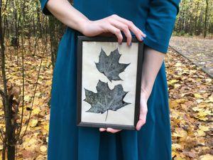 Создаём картину со скелетированными кленовыми листьями. Ярмарка Мастеров - ручная работа, handmade.