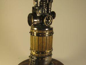 Стимпанк зажигалка  «Паровой котёл». Ярмарка Мастеров - ручная работа, handmade.
