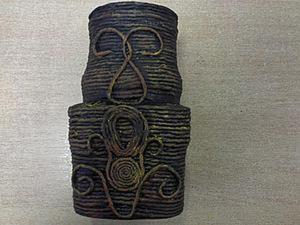 Создаем вазочку из кофейной баночки и бумажных веревок. Ярмарка Мастеров - ручная работа, handmade.