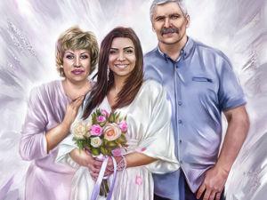 Семейный портрет. Ярмарка Мастеров - ручная работа, handmade.