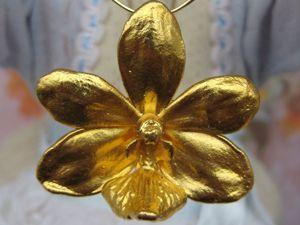 Дополнительные фотографии. Брошь Кулон Орхидея Risis. Ярмарка Мастеров - ручная работа, handmade.