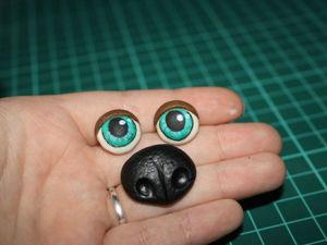 Создаем пришивные глаза и нос из полимерной глины. Ярмарка Мастеров - ручная работа, handmade.