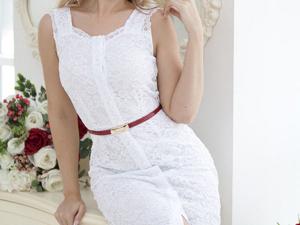 Аукцион на гипюровое белоснежное платье! Старт 3000 руб.!. Ярмарка Мастеров - ручная работа, handmade.