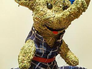 Делаем забавного слоника из сена. Ярмарка Мастеров - ручная работа, handmade.