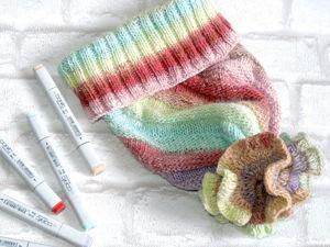 Вяжем шапку методом «Диагональное вязание». Ярмарка Мастеров - ручная работа, handmade.