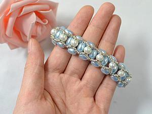 Плетем нежный браслет из жемчужных бусин. Ярмарка Мастеров - ручная работа, handmade.