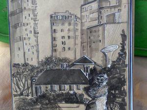 Экстрим скетчинг 5  «Портрет города»  с Анной Эгида от Школы Вероники Калачевой. Ярмарка Мастеров - ручная работа, handmade.