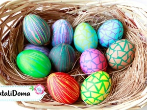 Видео мастер-класс: два необычных способа покрасить пасхальные яйца. Ярмарка Мастеров - ручная работа, handmade.