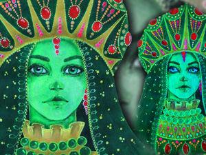 Светящаяся картина Медной горы Хозяйка. Acrylic Speedpaint (fluorescent paints). Ярмарка Мастеров - ручная работа, handmade.