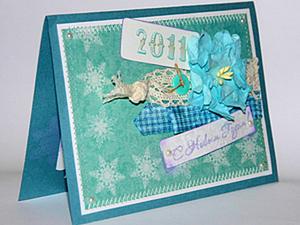 Делаем сами новогоднюю открытку. Ярмарка Мастеров - ручная работа, handmade.