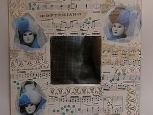 Зеркало «Венецианский карнавал» в технике декупаж. Ярмарка Мастеров - ручная работа, handmade.