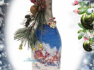 Оформление новогоднего шампанского. Ярмарка Мастеров - ручная работа, handmade.