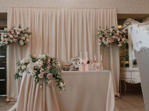 Свадебный декор зала цветами, выездная регистрация Волгоград. Ярмарка Мастеров - ручная работа, handmade.