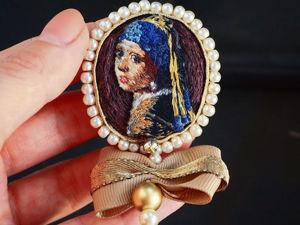 Девушка с жемчужной сережкой. Ярмарка Мастеров - ручная работа, handmade.