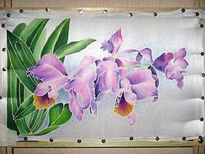Мастер-класс по холодному батику «Орхидеи». Ярмарка Мастеров - ручная работа, handmade.