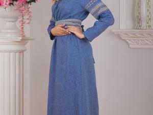 Платье Льняной Дождь. Ярмарка Мастеров - ручная работа, handmade.