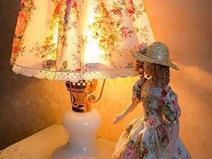 Создаем интерьерную композицию в стиле шебби шик из старинной лампы и коробки. Ярмарка Мастеров - ручная работа, handmade.
