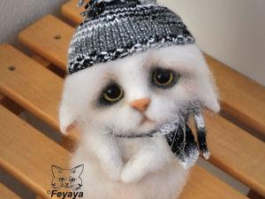 Мастер-класс: котик-печалька Сенечка в технике сухого валяния. Ярмарка Мастеров - ручная работа, handmade.