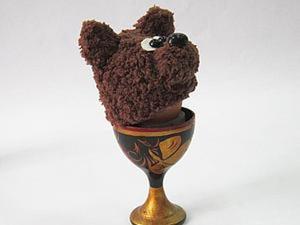 """Вяжем грелку для яйца """"Мишка"""". Ярмарка Мастеров - ручная работа, handmade."""