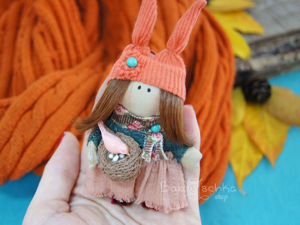 Making Textile Brooch-Keychain ''Autumn Girl''. Livemaster - handmade