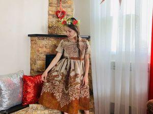 Платья для девочек из льна. Ярмарка Мастеров - ручная работа, handmade.