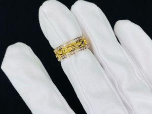 Лимонное золото с бриллиантами. В наличии. Ярмарка Мастеров - ручная работа, handmade.