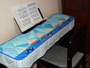Шьем сами чехол-накидку для синтезатора или пианино. Часть 2: смётка и ручная стёжка. Окончательная сборка. Ярмарка Мастеров - ручная работа, handmade.