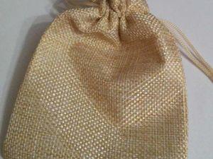 Поступление холщовых мешочков светло-бежевых 9,5 х 13,5 см. Ярмарка Мастеров - ручная работа, handmade.