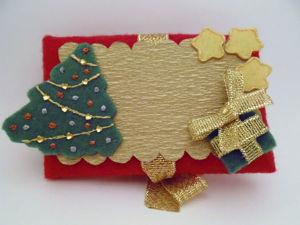 Новогодний текстильный конверт-открытка. Ярмарка Мастеров - ручная работа, handmade.