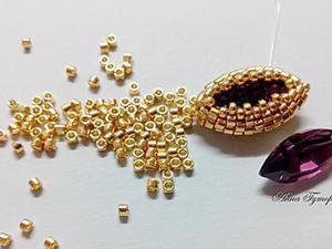 Мастер-класс: оплетение кристалла Сваровски формы Navette. Ярмарка Мастеров - ручная работа, handmade.