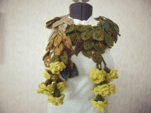 Акция! скидка 20% на шарфик  « Листва Пандоры». Ярмарка Мастеров - ручная работа, handmade.