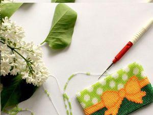 Видео мастер-класс: осваиваем вязание бисером. Урок 15. Как набирать бисер на большое изделие на примере схемы монетницы. Ярмарка Мастеров - ручная работа, handmade.