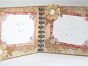 Мастер-класс: рамка для четырех фото на пружине. Ярмарка Мастеров - ручная работа, handmade.