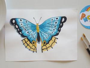 Рисуем с детьми: бабочка. Ярмарка Мастеров - ручная работа, handmade.
