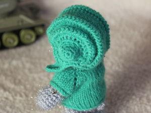 Вяжем шлем танкиста для игрушки. Ярмарка Мастеров - ручная работа, handmade.