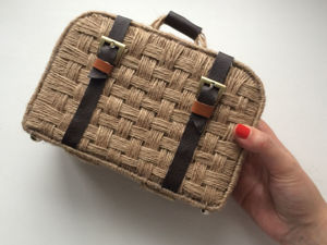 How to Make Weaved Suitcase from Jute and Cardboard. Livemaster - handmade