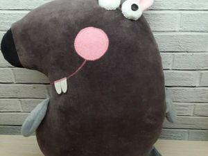Подушка-игрушка  «Мышшшь». Ярмарка Мастеров - ручная работа, handmade.