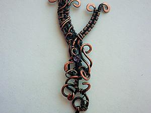 Создание несложной подвески: буква «Y» в технике wire wrap. Ярмарка Мастеров - ручная работа, handmade.