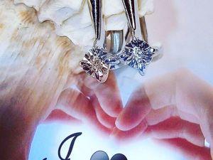 Серьги  «Аркона»  с бриллиантами в серебре 925 пробы. Ярмарка Мастеров - ручная работа, handmade.