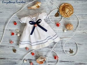 Платье-матроска для куклы: мастер-класс. Ярмарка Мастеров - ручная работа, handmade.