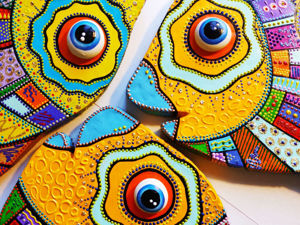 How To Make Decorative Fish From Cardboard (Dot Painting, Cartonage). Livemaster - handmade