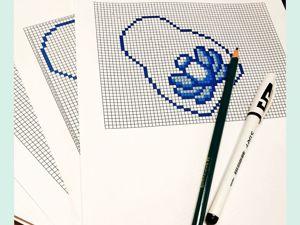 Составление схемы для вышивки бисером по канве. Ярмарка Мастеров - ручная работа, handmade.