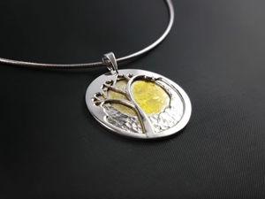 Серебряный кулон  «Дерево»  своими руками. Ярмарка Мастеров - ручная работа, handmade.