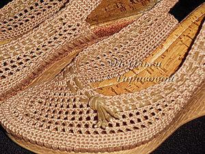Реставрация обуви, вязаные босоножки. Ярмарка Мастеров - ручная работа, handmade.