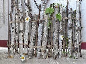 Делаем декоративный заборчик в эко-стиле. Ярмарка Мастеров - ручная работа, handmade.